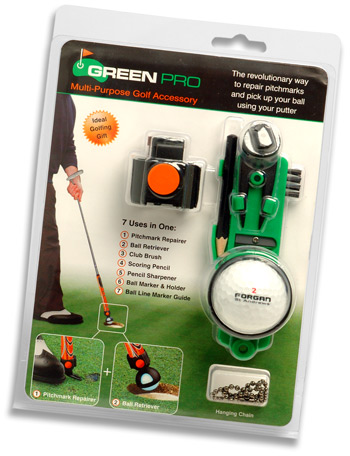 GREEN PRO - Repair pitchmarks and pick up your ball using your putter